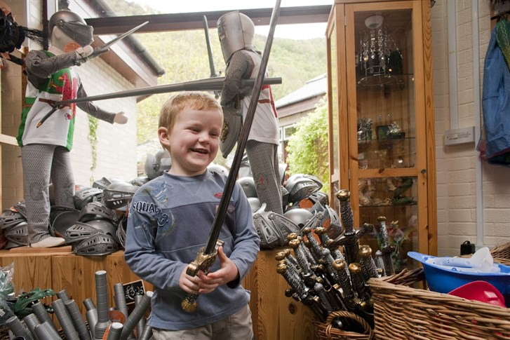 Toys, books and souvenirs in the King Arthur's Labyrinth shop