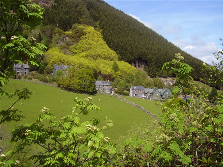 The nearby village of Corris